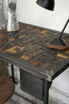 printing blocks table top - Google Search
