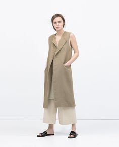 Image 1 of LONG WAISTCOAT from Zara