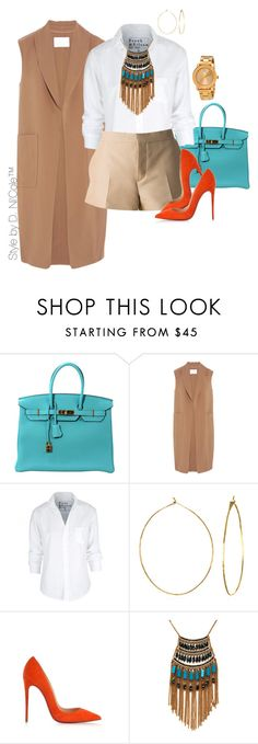 """Untitled #3263"" by stylebydnicole ❤ liked on Polyvore featuring Hermès, Alexander Wang, Frank & Eileen, Marni, Phyllis + Rosie, Christian Louboutin, Leslie Danzis, Movado, men's fashion and menswear"