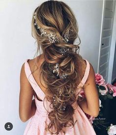 Great Pretty Glittery Detail For Any Event. Braided Prom HairHairstyles For Long  ...