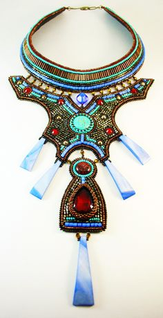 There is collection of photos of beautiful beaded jewelry in Egyptian style. Every piece is original and unique, has some special old magic