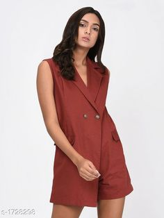 Jumpsuits Elegant Women's Jumpsuit  *Fabric* Cotton  *Sleeves* Sleeves Are Not Included  *Size* S - 36 in , M - 38 in , L - 40 in  *Length* Up To 34 in  *Type* Stitched  *Description* It Has 1 Piece Of Women's Jumpsuit  *Pattern* Solid  *Sizes Available* XXS, XS, S, M, L, XL, XXL, XXXL, 4XL, 5XL, 6XL, 7XL, 8XL, 9XL, 10XL, Free Size *    Catalog Name: Adeline Elegant Womens Jumpsuits CatalogID_226201 C79-SC1030 Code: 435-1728298-