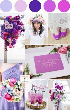 shades of purple wedding,Dusty Pink Indigo Lilac and Radiant Orchid Wedding,radiant wedding palette
