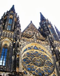 """Prague Castle - St. Vitus Cathedral. I loved this cathedral because St. Vitus was the patron saint of seizures and epilepsy (archaically referred to as """"doing St. Vitus dance"""")"""