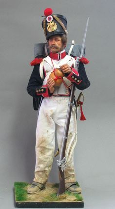The French Grenadier , 45eme Ligne :~ Typical of the veteran soldiers in the French Infantry , which opened the battle by their advance in massive columns on the Allied left centre :~