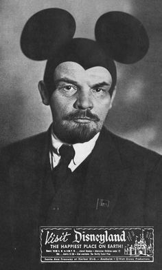 "Lenin at the ""Happiest Place On Earth""  Those Russians are a tough sell....."