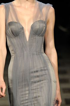 Zac Posen: Grey and structured. Beautiful.