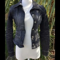 "Beautiful Guess Jacket.  Sz xs This jacket is so cute!  Across the bust it's 13"". Length from shoulder is 19"".  This is a winner for sure! Guess Jackets & Coats Jean Jackets"