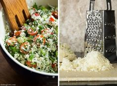 Detox Tabbouleh / oh she glows ...uses raw grated cauliflower instead of cooked grains