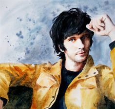 Ben Whishaw. Watercolours on paper.