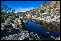 Bear Gulch Reservoir. Pinnacles National Park ( color)