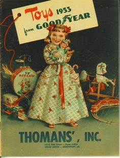 1953 CHRISTMAS AD Booklet THOMAN'S Goodyear, Cedar Grove-Shreveport La.