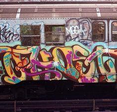 NYC Nostalgia — nyc-subway-graffiti: GHOST (RIS) Graffiti Writing, Graffiti Tagging, Graffiti Lettering, Street Art Graffiti, Graffiti Shoes, Graffiti Artists, Nyc Subway, Subway Art, Graffiti Supplies