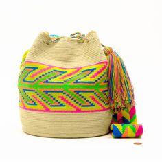Hermosa Wayuu Bag | Limited Edition - Only Kind Tapestry Bag, Tapestry Crochet, Mochila Crochet, Denim Bag, Knitted Bags, Chrochet, Crochet Fashion, Crochet Accessories, Bucket Bag