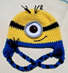 crochet minion hat,male gifts,halloween costume,gifts for men,kids gifts,childrens costumes,baby hat boy,baby hat crochet,crochet gifts,hats