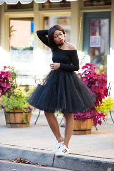 Tulle skirt and sneakers, www.jadore-fashion.com