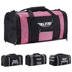 e250bc44a852 Elite Sports NEW ITEM Ventilated Mesh Duffel Gym Bag Review Mma Gloves