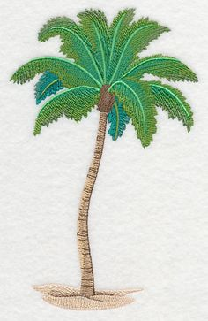 Palm tree Oasis Machine Embroidery Designs at Embroidery Library! -