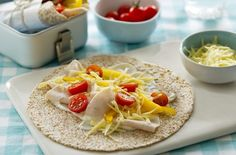 Kids will love these wholemeal chicken wraps. Get more lunchbox ideas at Tesco…