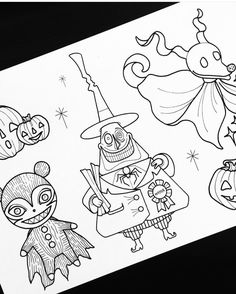 Nightmare before christmas drawings Halloween Drawings, Halloween Crafts, Nightmare Before Christmas Drawings, Desenho Tattoo, Flash Art, Disney Tattoos, Jack Skellington, Disney Drawings, Tattoo Sketches