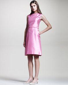 Valentino Braid-Detail Mikado Dress