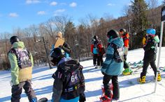 Junior slope style competitors