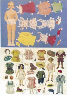 Paper doll cards, Art Majahovi, 217 and 219 | Flickr - Photo Sharing!