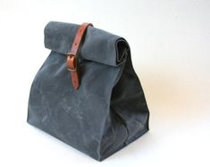 Charcoal Gray Waxed Canvas Bag