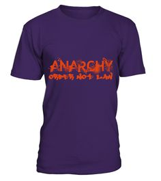 """# Anarchy - Order Not Law Slogan T-Shirt .  """"Anarchy - Order Not Law"""" Slogan T-Shirt with RedPrintLarge Front Print of """"Anarchy - Order Not Law"""" slogan in red.This design works best on dark backgrounds. There is an alternative print for light shirts available in the store too witha black print.Color Choice:Scroll  down for thumnails of all products with this design. Choose the color  of the selected product below the thumbs. All  our shirts for anarchists are printed from 300 DPI surce image…"""