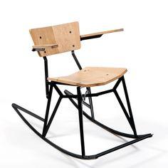 Paul Heijnen, Steel Strip Rocking Chair (2012)