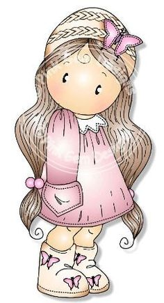 Chloe digitale Digi Stamp in maglia cappello  di PinkGemDesigns