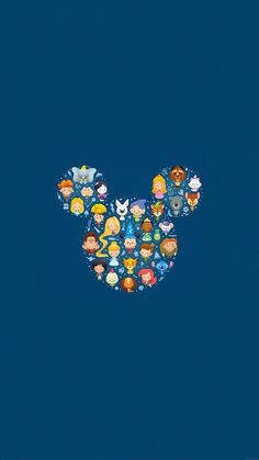 Disney characters in Mickey Mouse head iPhone Wallpaper Wallpaper Para Iphone 6, Disney Phone Wallpaper, Cute Wallpaper For Phone, Tumblr Wallpaper, Mobile Wallpaper, Wallpaper Quotes, Cellphone Wallpaper, Disneyland Iphone Wallpaper, Apple Wallpaper