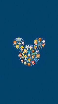 Disney Art Character Cute Illust iPhone 8 Wallpapers