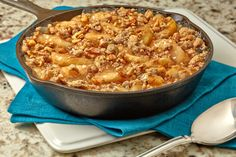 Deep Dish Apple Crisp - but use actual apples though not pie filling