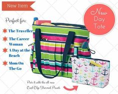 New Day Tote Thirty-One May special #tote #diaperbag #carryon #beachbag