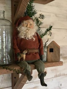 Create with Cinnamon Creek: Never, Ever enough Time . Cowboy Christmas, Primitive Christmas, Father Christmas, Country Christmas, Vintage Christmas, Primitive Santa, Primitive Folk Art, Primitive Crafts, Primitive Doll Patterns