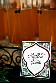 Autumn Harvest Dessert Table Mulled Cider printable