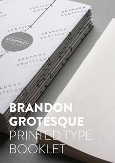 Brandon Grotesque (Typefamily) by HVD Fonts, via Behance Typography Fonts, Graphic Design Typography, Lettering, Serif Font, Sans Serif, Great Fonts, Cool Fonts, Brandon Grotesque, Entertainment Logo