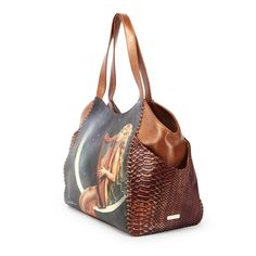"""""""Music of the Spheres"""" Large Shoulder Tote w/Pockets on both sides by David Delamare"""