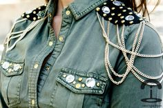 DIY Military shirt | Crímenes de la Moda en stylelovely.com