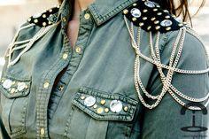 DIY Military shirt   Crímenes de la Moda en stylelovely.com