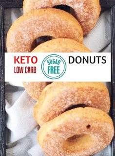 These low carb donuts taste just like the real thing, just without all the sugar and carbs! They are deliciously moist and spongy, with a hint of vanilla flavour. Perfect for Keto, sugar free and gluten free diets. These sugar free donuts come in … Donuts Keto, Sugar Free Donuts, Low Carb Doughnuts, Sugar Free Diet, Ketogenic Recipes, Low Carb Recipes, Diet Recipes, Yogurt Recipes, Chicken Recipes