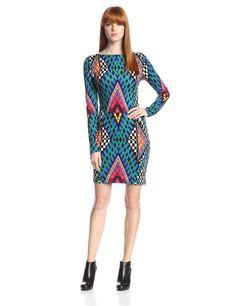 Bazaar Blue Ponte Long-Sleeve Dress by Mara Hoffman