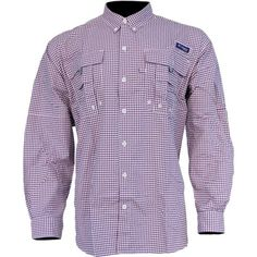 25b14ad9019 Columbia Men's Pfg Super Bahama Long Sleeve Shirt - Carbon Plaid Pfg Shirts,  Western Wear