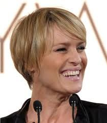 I can't get it cut this short, but had to Pin because her hair is so cute short.  Love Robin Wright