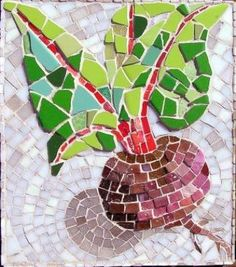 Martin Cheek. Note the interesting use of tiles to echo and outline the beetroot shape as well as creating the shadow effect...