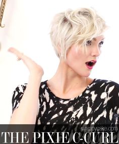 How To Style a Pixie Haircut: The C-Curl