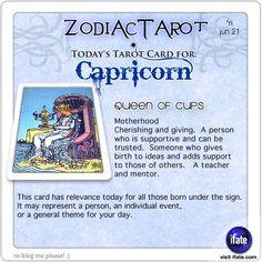 Todays Capricorn tarot card: Want tomorrow's Capricorn horoscope?   Visit iFate.com today!