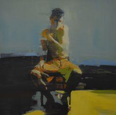"mark horst ""light around the body no. 24"" 36"" x 36"" oil on canvas."