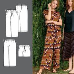 Bukse og shorts med vidde og lommer Diy Clothes, Diy Stuff, Pants, Sew, Dresses, Ideas, Fashion, Trouser Pants, Gowns